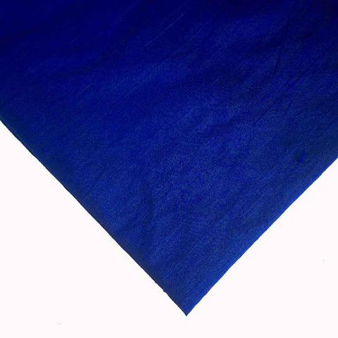 Royal Blue Pure Dupion Silk Fabric Buy from DesiCrafts