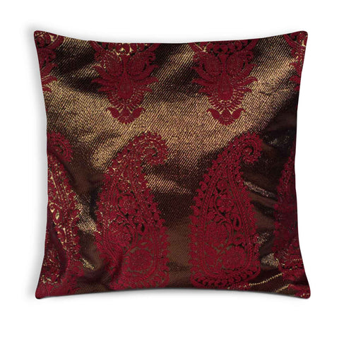Dull gold silk pillow cover buy online from DesiCrafts
