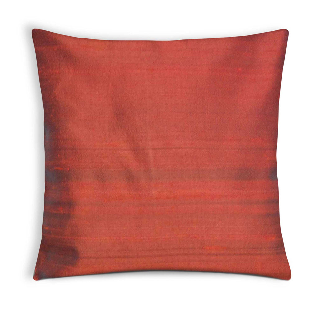 Rust Raw Silk Cushion Cover