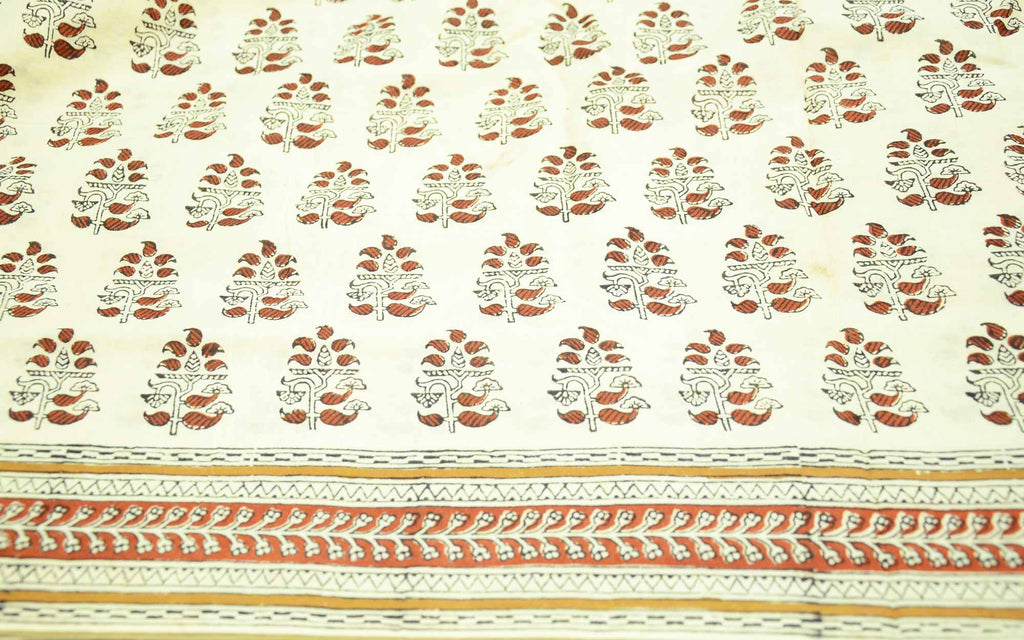 Hand Block Printed Cotton Sari