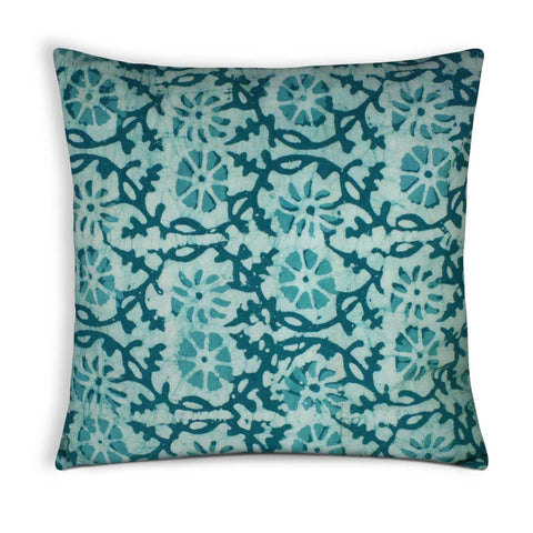 Sea green cotton pillow cover buy online from DesiCrafts