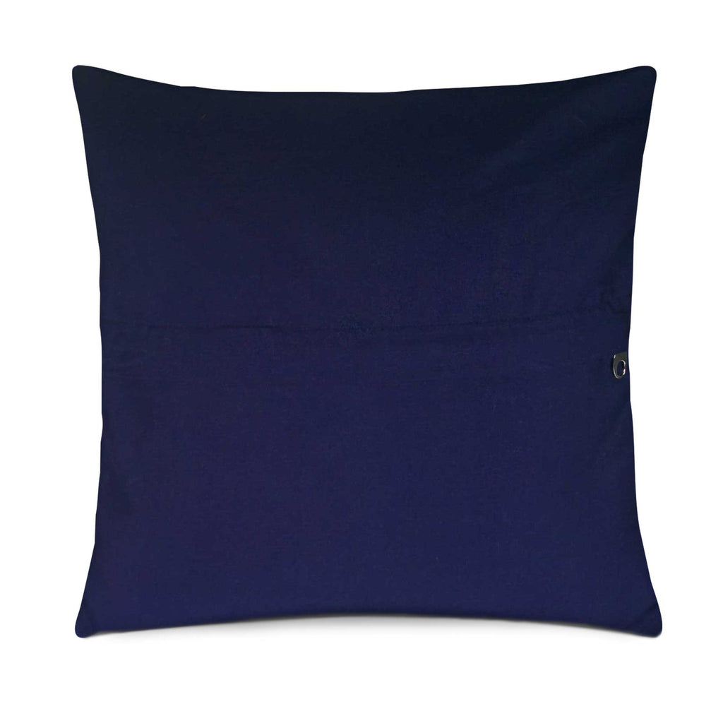 Teal and Navy cotton pillow cover