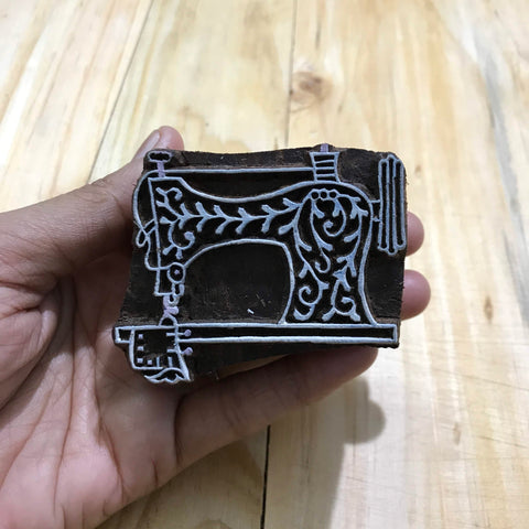 Sewing Machine Hand Block Printing Wooden Stamp Buy From DesiCrafts