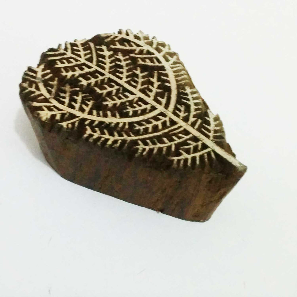 Wild Shrub Wooden Stamp For Hand Block Printing