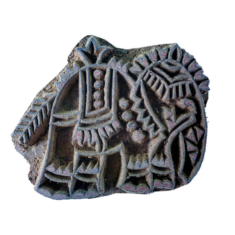 Tribal Elephant Stamp For Textile Printing