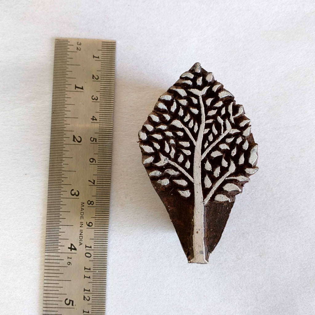 Small Tree Wooden Block Printing Stamp