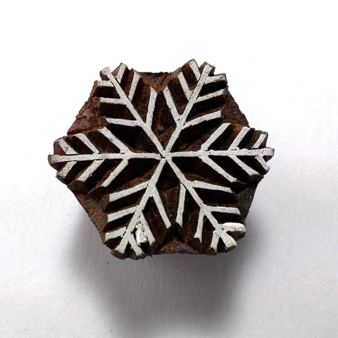 Snowflake Wood Stamp for Printing