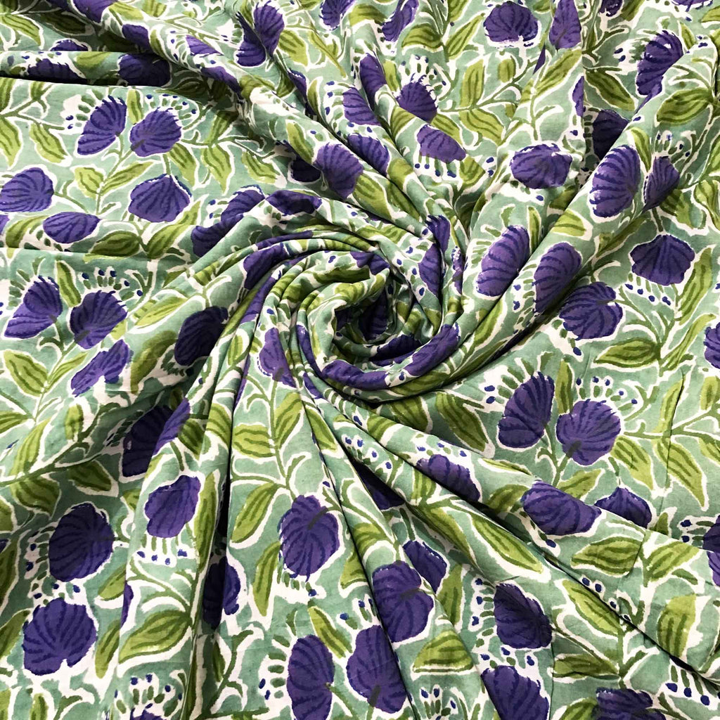 Hand block printed cotton fabric buy online