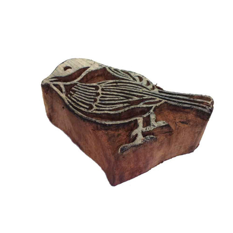 sparrow wooden block printing stamp buy online from India