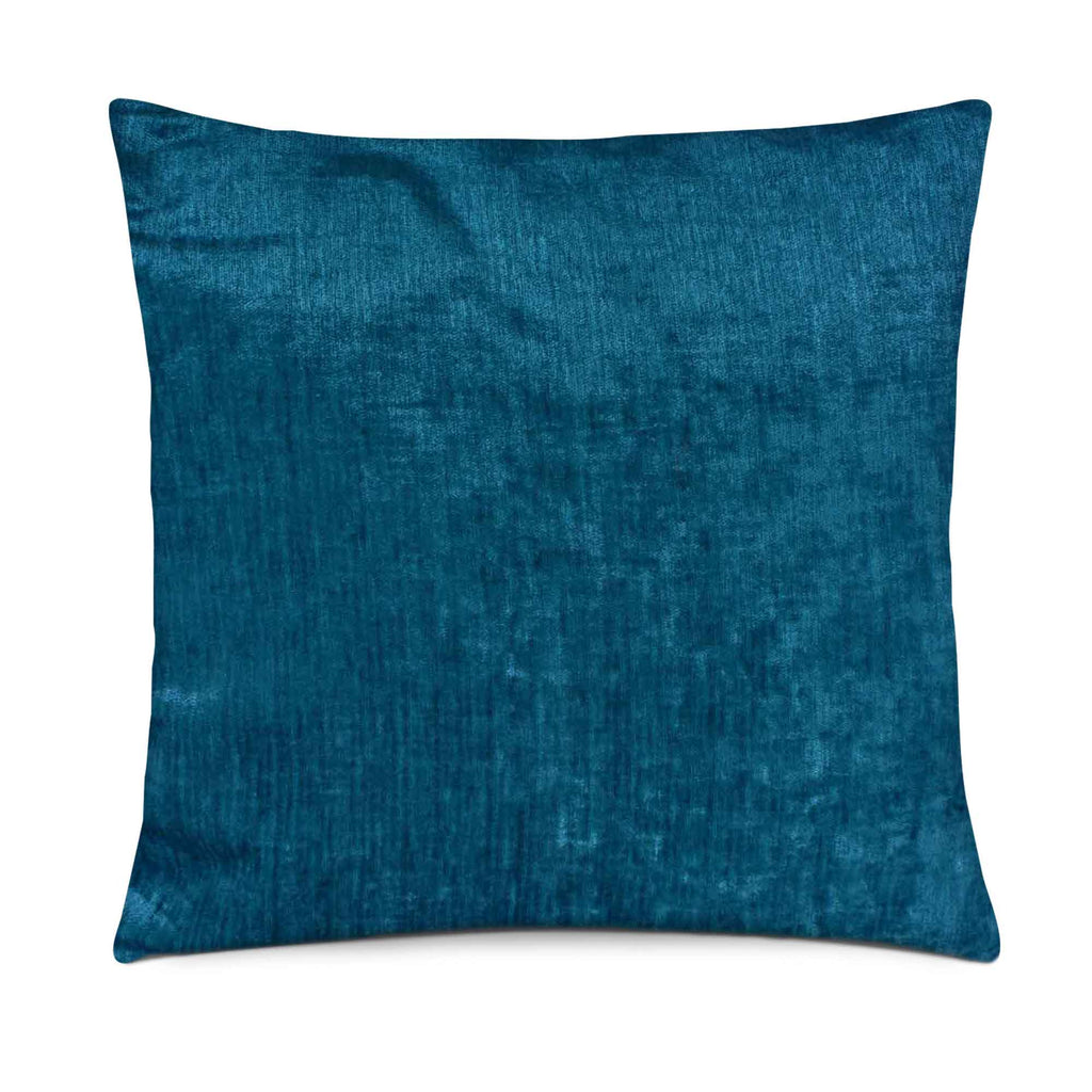 Teal velvet pillow cover buy online from DesiCrafts