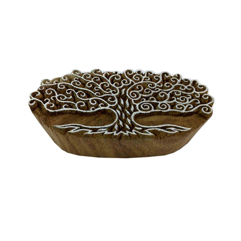 Tree of Life Wood Stamp for Textile and Paper Printing