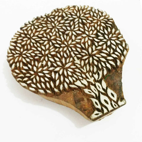 Tree Of Life Wooden Stamp For Hand Block Printing