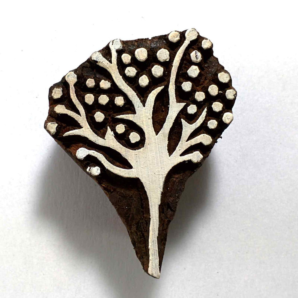 Small Tree Stamp for Block Printing