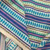 Turquoise Woven Upholstery Fabric By Yard