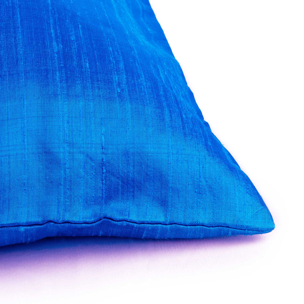 Turquoise Blue Raw Silk Pillow Cover Buy Online