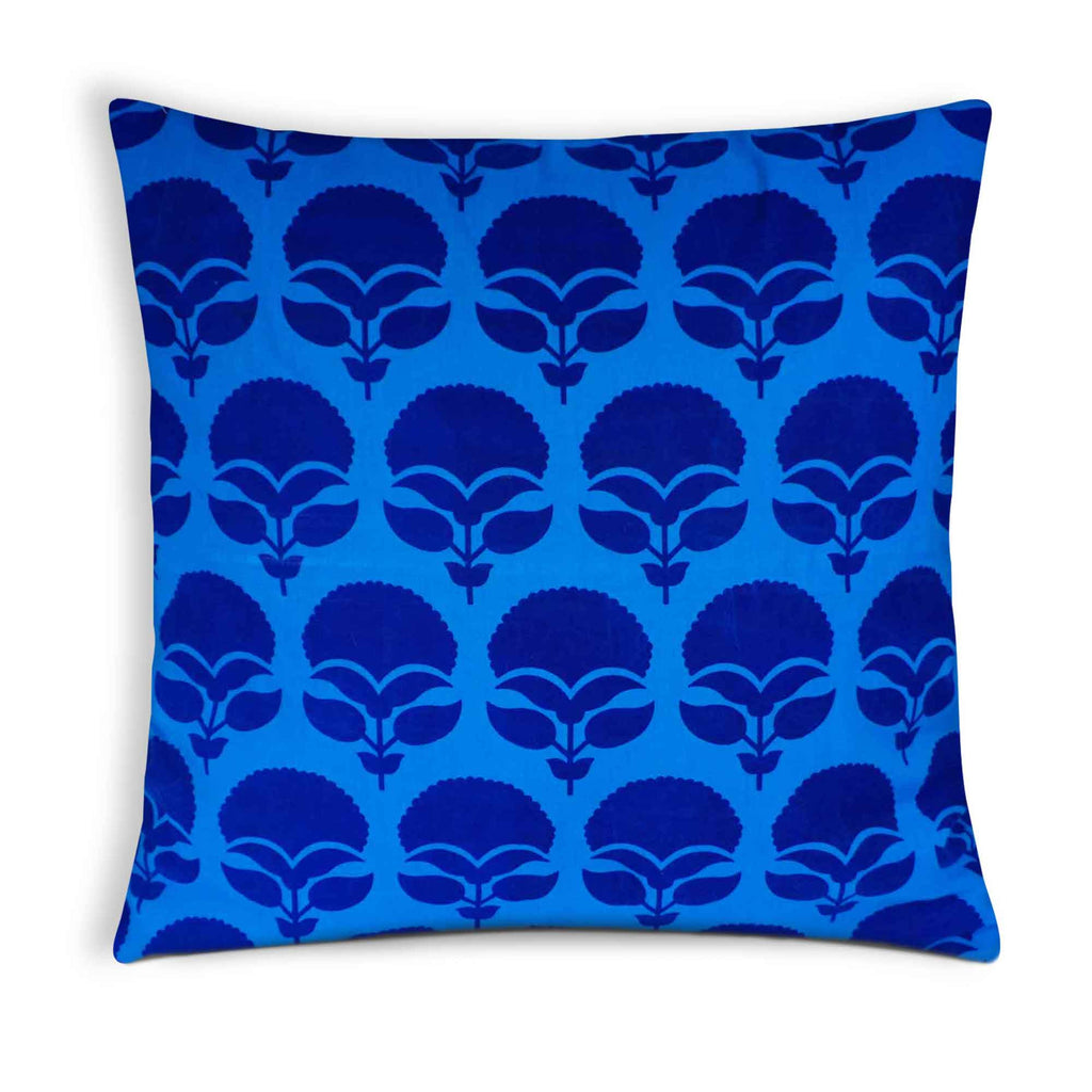 Turquoise tree cushion cover buy online from DesiCrafts