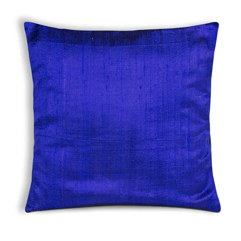 Royal Blue Raw Silk Cushion Cover