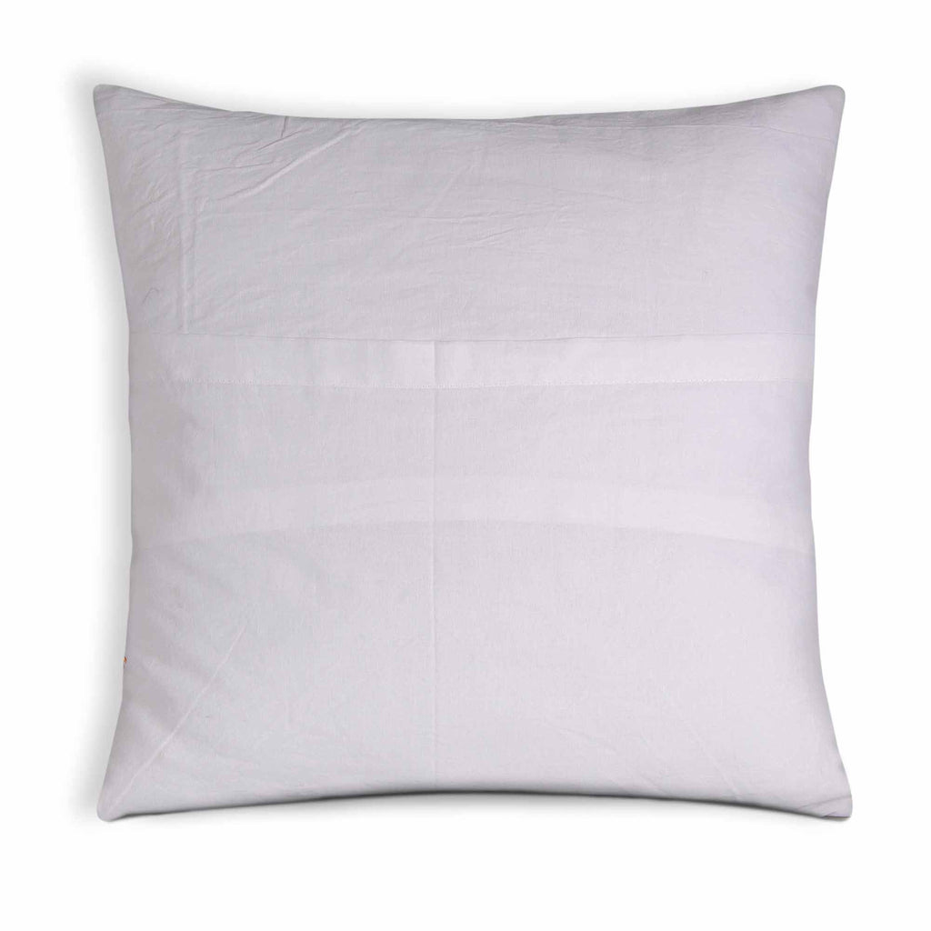 white and Green Soft Cotton Pillow Cover
