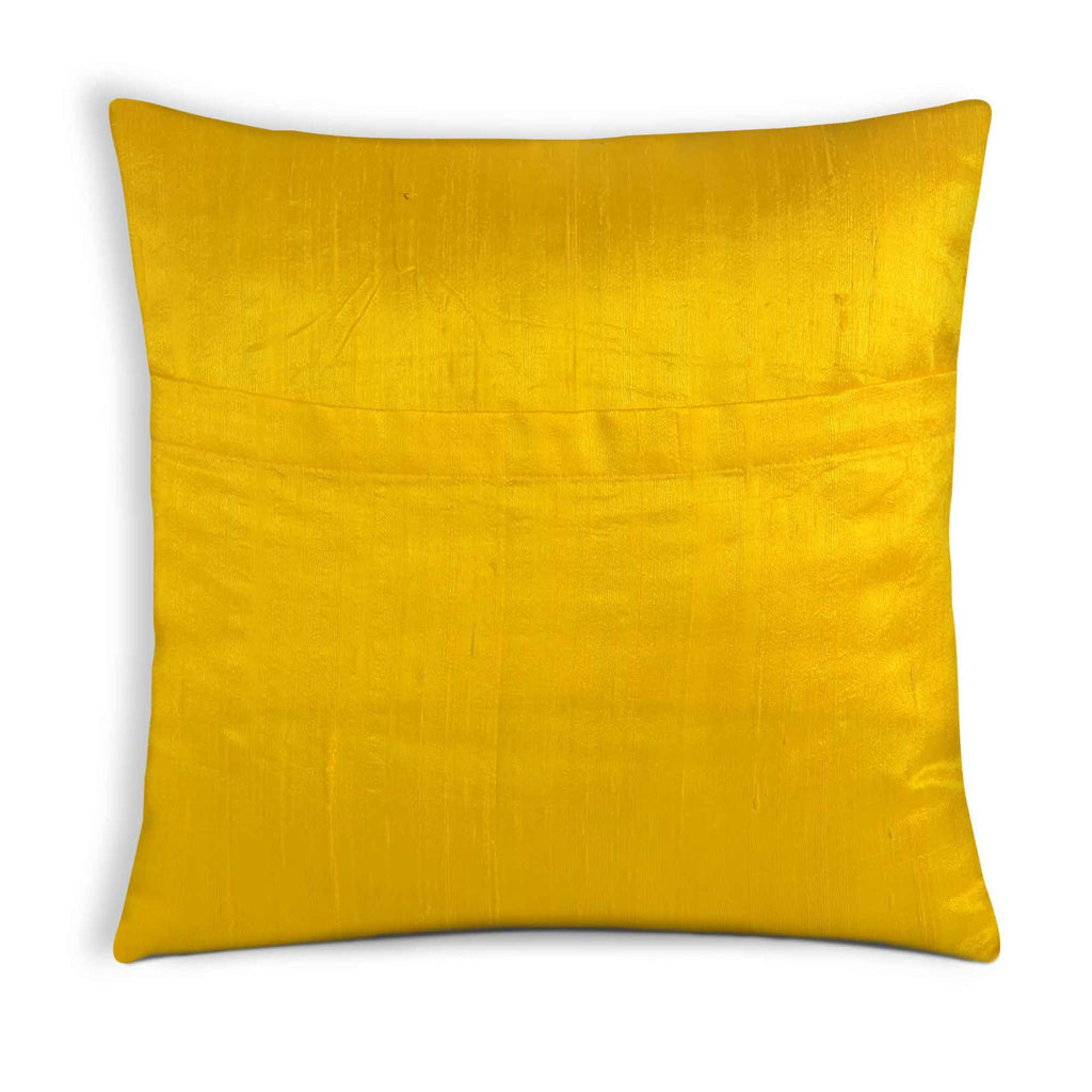 Yellow Border Silk Pillow