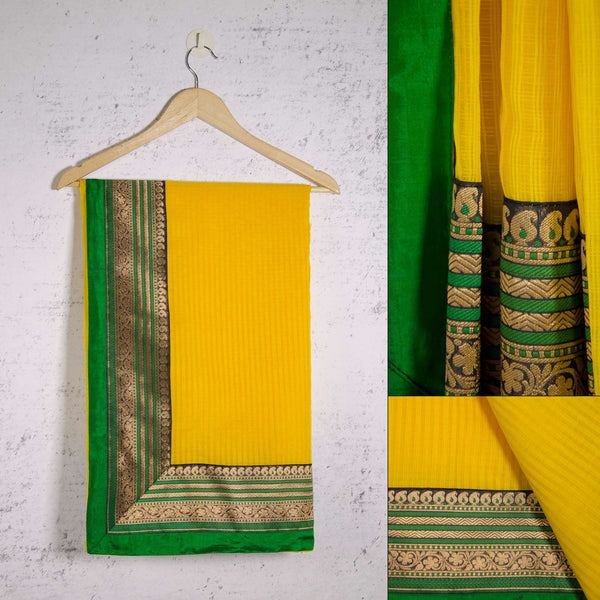 collage of a handmade silk saree by DesiCrafts