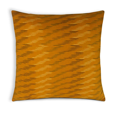 Mustard ikat cotton cushion cover buy online from DesiCrafts