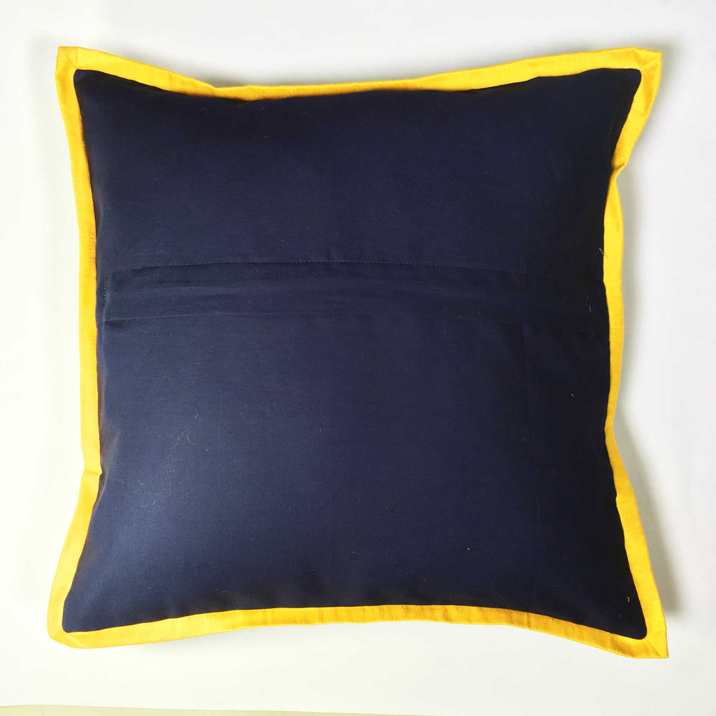 Zipper style Piped Corners Bagru Indigo Cushion Cover
