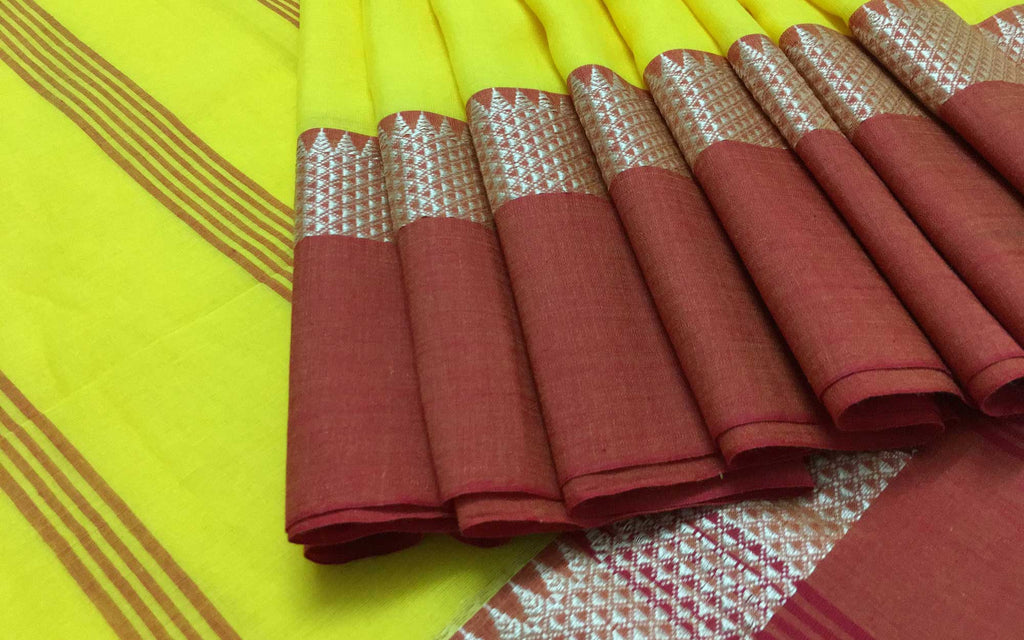 Traditional Indian cotton sari office formals