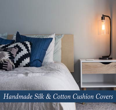 Handmade Silk and Cotton Cushion Covers