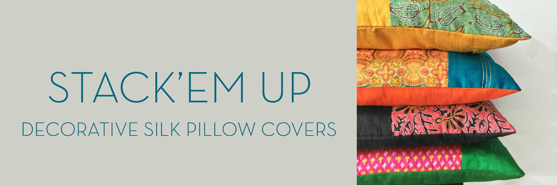 Unique Silk Pillow Covers By DesiCrafts