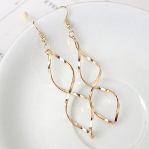 Ikasiya Twisted Gold Hoops