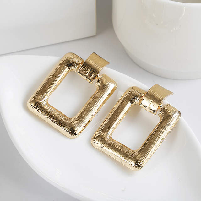 Ikasiya Gold Square Earrings