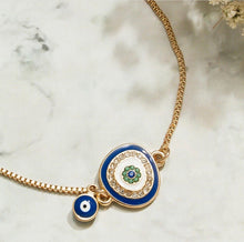 Load image into Gallery viewer, Ikasiya Blue Adjustable Evil Eye Bracelet