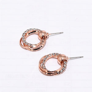 Ikasiya Rose Gold Hoop Earrings