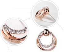 Load image into Gallery viewer, Ikasiya Rose Gold Hoop Earrings
