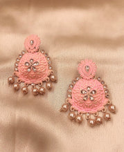 Load image into Gallery viewer, Ikasiya Chandbali Earrings in Gold and Pink