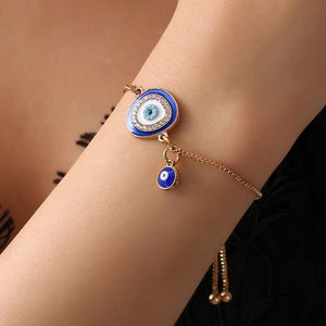 Ikasiya Blue Adjustable Evil Eye Bracelet