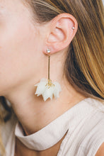 Load image into Gallery viewer, Ikasiya White Lily Drop Earrings