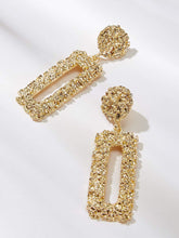 Load image into Gallery viewer, Ikasiya Gold Textured Encrusted Earrings