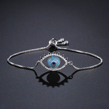 Load image into Gallery viewer, Ikasiya Classic Evil Eye Bracelet (Silver)