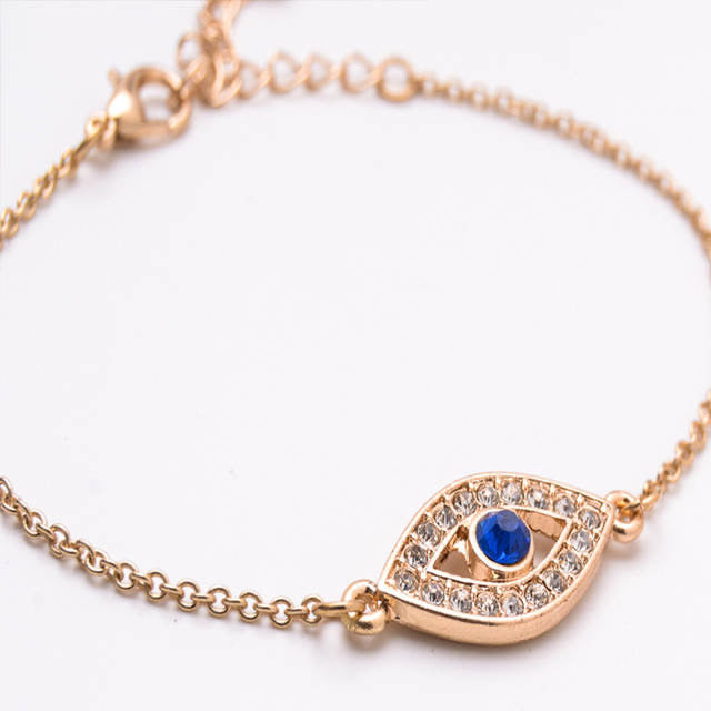 Ikasiya Rose Gold Diamond Evil Eye Bracelet