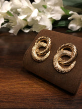Load image into Gallery viewer, Ikasiya Double Gold Textured Earrings