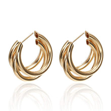 Load image into Gallery viewer, Ikasiya Gold Multi Hoop Earrings