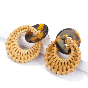 Ikasiya Double Hoop Jute Earrings