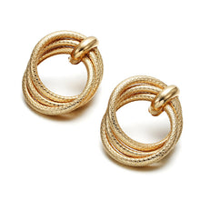 Load image into Gallery viewer, Ikasiya Multi Round Gold Earrings
