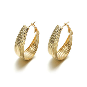 Ikasiya Gold Oval Hoops