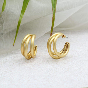 Ikasiya Gold Multi Hoop Earrings