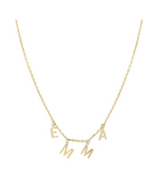 Load image into Gallery viewer, Personalized Gold Letter Necklace