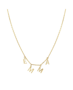 Personalized Gold Letter Necklace