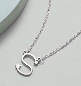 Personalized Silver Letter Necklace