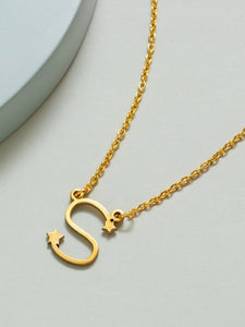 Personalized Gold Plated Letter Necklace